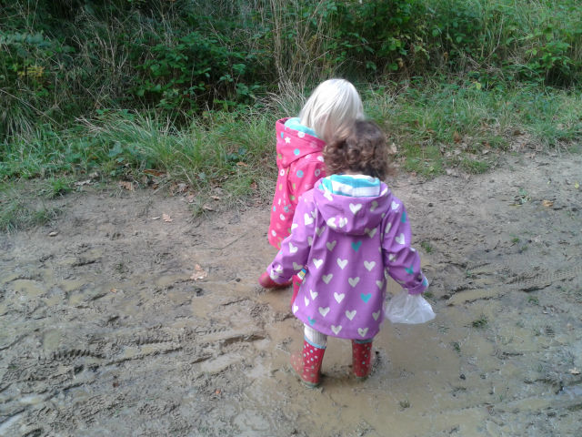 Muddy fun at Bourne Woods