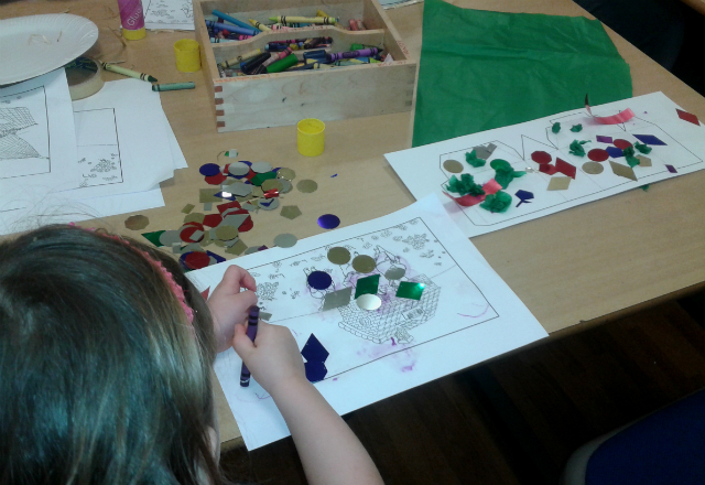 Working on my masterpiece at Peterborough Museum