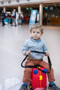 Trunki and toddler. ©iStock.com/romrodinka