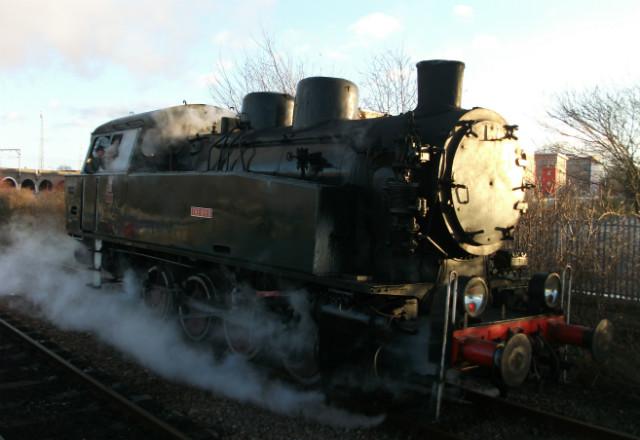 Steam loco on Nene Valley Railway