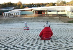 Toboggan fun at Tallington Lakes