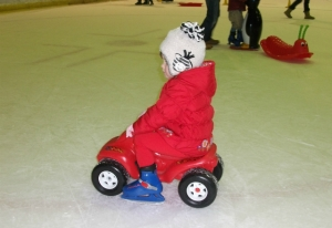 Ride-on car at Planet Ice