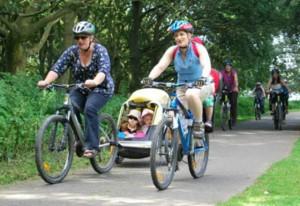 Cycling around Rutland Water