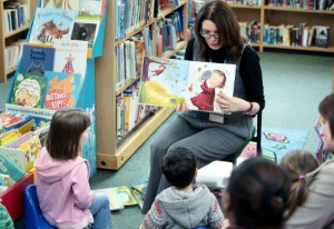 Story time at Peterborough library