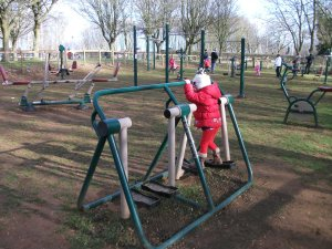 Outdoor gym at Rutland Water