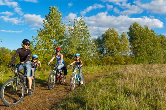 Go cycling with the family. Image: ©iStock.com/JaySi