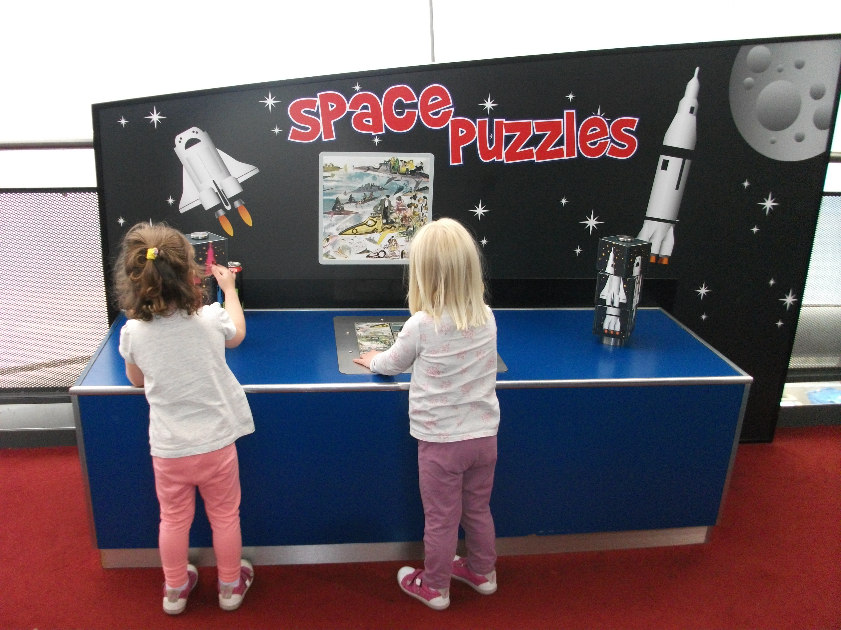 Puzzles for the kids to do at the Space Centre