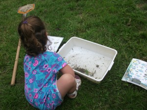 Pond dipping at Sacrewell Farm