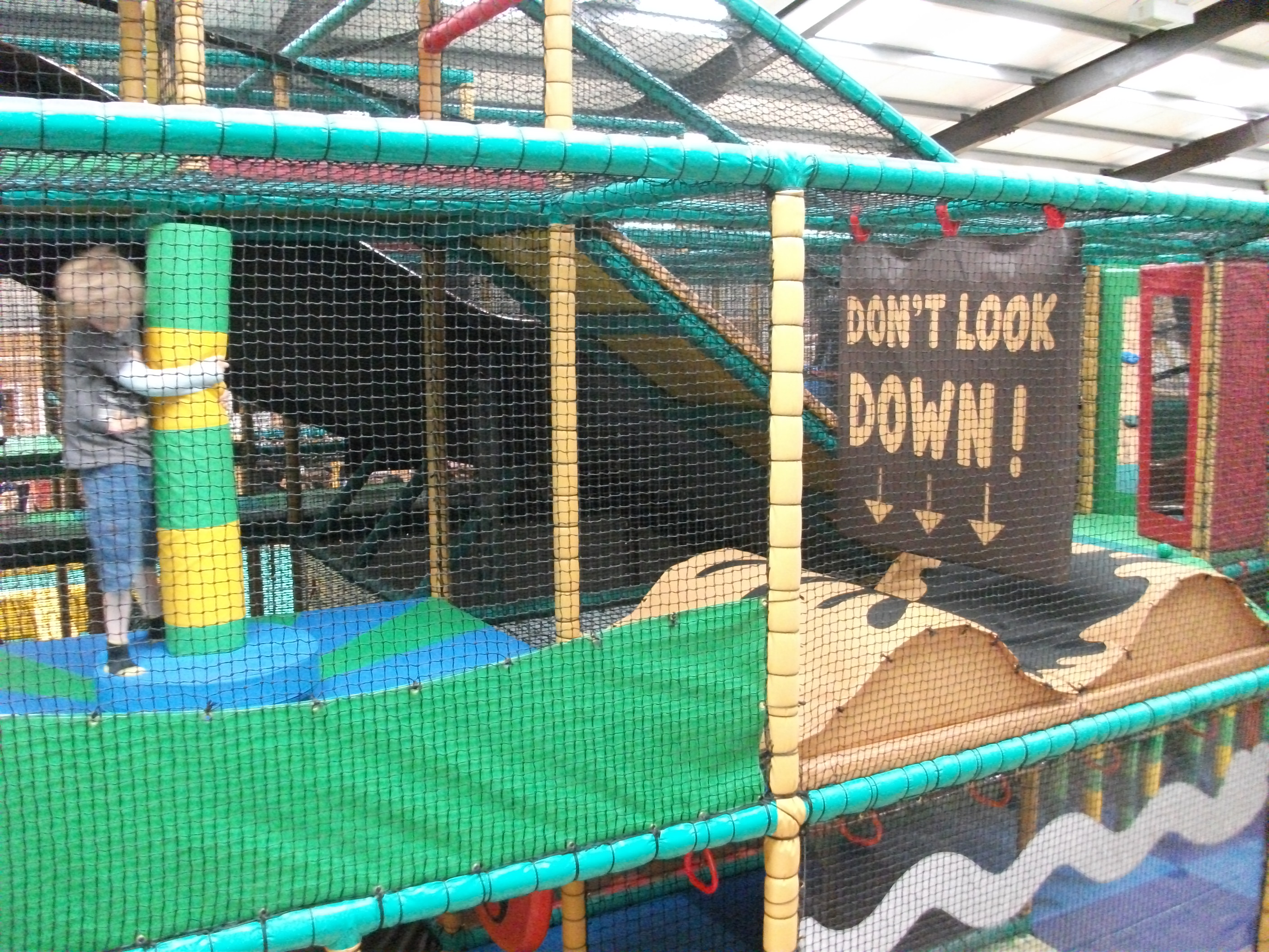 Soft play at Sacrewell Farm