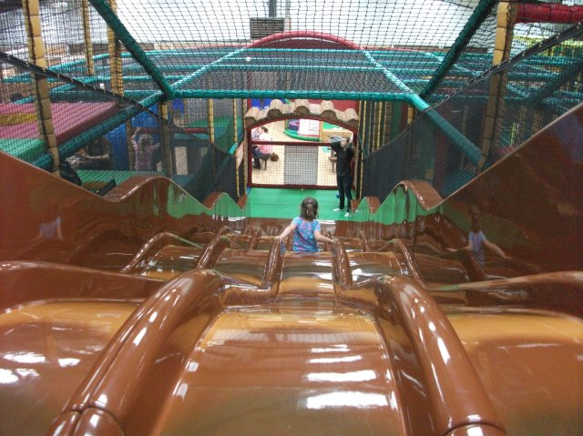 Wavy slide at Sacrewell Farm