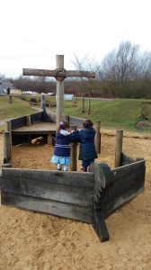 Pirate ship at Stanwick Lakes